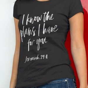 T-Shirt Addicts Tops - I Know The Plans I Have For You Jeremiah 29:11 Tee